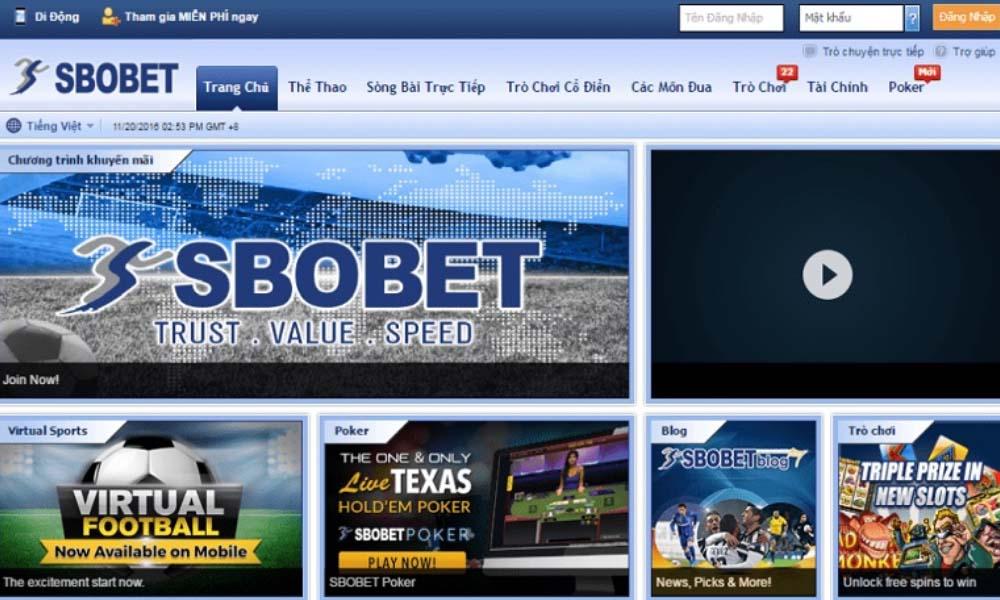 Trang web cá cược SBOBET